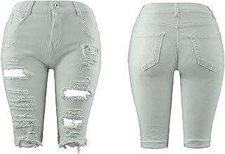 ZONGLIAN パンツ 女性 人気 パーティーお洒落 レディース Women Shorts Ripped Jeans