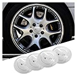Tapas Para Llantas 1set Coche Wheel Stickers 56mm Auto Center Hub Cap Decal Compatible con Nissan Qashqai Juke X-Trail Tiida Teana Skyline Almera Altima Versa Insignia del emblema ( Color : C Silver )