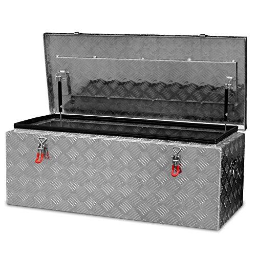 Alukiste Pick-Up Box Ladeflächenkiste Werkzeugkiste Alubox Deichselbox Staubox Anhängerkiste Gurtkiste