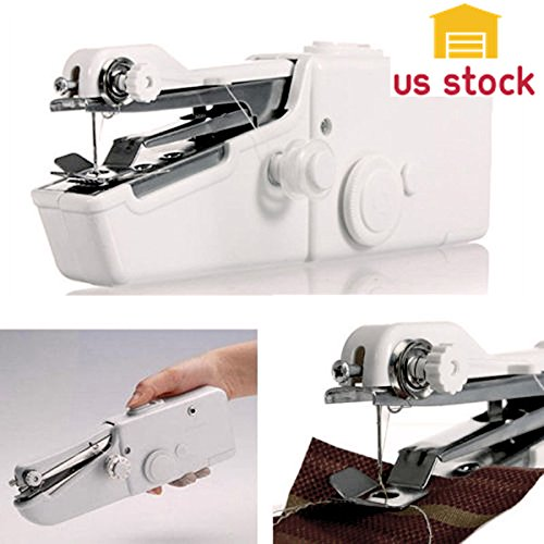 Thegood88 Mini Portable Smart Electric Tailor Stitch Hand-held Sewing Machine Home Travel