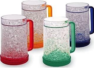 Double Wall Gel Freezer Mug – Set of 4 – Red, Orange, Blue, Green
