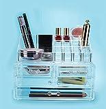 Demarkt Caja de almacenamiento cosmética, organizador de maquillaje, pintalabios, esmalte de uñas, pinceles, organizador de pintalabios, organizador de cosméticos