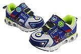 PJ Masks Toddler Shoes,Light Up Tennis Sneaker,Rubber Hard Bottom,Toddler/Kids Sizes 5 to 10 (Blue Silver, Numeric_6)