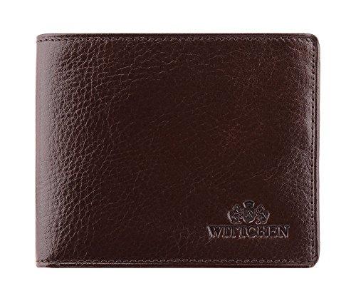 WITTCHEN Geldbörse aus Rindsleder | Kollektion: Italy | aus hochwertigen Materialien | elegant und klassisch | Braun | 10.5x8.5 cm