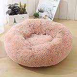 Generic Weiches Plüsch-Haustierbett, leicht zu reinigen, EIN kleines Nest für Katzen und Hunde Pink S