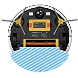 2-in-1 Robot Vacuum Cleaner, Wi-Fi, 1800Pa Suction Sweeping Mopping Robot, Big 500ml Dustbin, Automatic Self-Charging Robotic Vacuums, Ideal for Pet Hair, Hard Floor and Carpets(Gold)