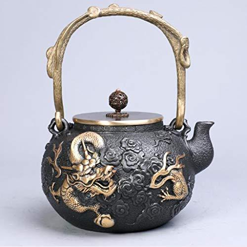 Tea Pot, Retro Cast Iron Tea Kettle for Loose Leaf Tea, Japanese Small Handmade Tea Maker, for Party Tea House Office, 1200ml