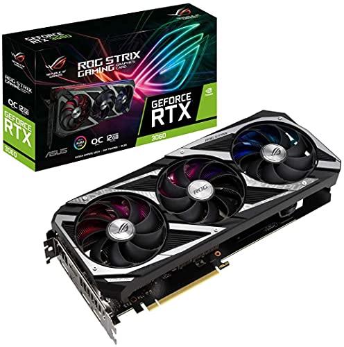 ASUS ROG Strix NVIDIA GeForce RTX 3060 OC Edition Carte Graphique Gaming (PCIe 4.0, 12GB GDDR6, HDMI...