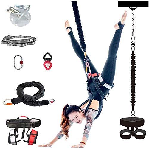 Cuerda elástica de yoga, cinturón elástico de yoga con cinturón de resistencia y todos los demás accesorios – Herramienta de entrenamiento de gravedad para gimnasio en casa, para hombres y mujeres