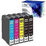 LxTek Cartucce d'inchiostro Compatibili per Epson 502XL 502 XL per Epson Workforce WF-2860 WF-2860DWF WF-2865 WF-2865DWF, Expression Home XP-5105 XP5105 XP-5100 XP5100