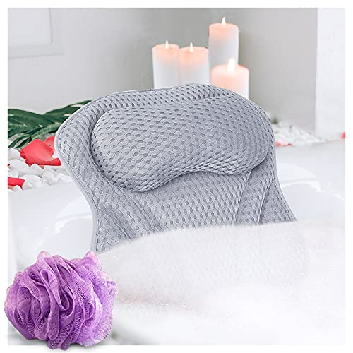Bath Pillows for Tub Neck and Back Support - Bathtub Pillow for Soaking Tub - Bath Tub Pillow Headrest - Spa Pillow for Bathtub and Hot Tub - Bathtub Accessories for Women – Bath Cushion for Tub Adult