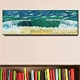 David Hockney Pop Art Sea Green Wave Water Splash Paisaje Lienzo Pintura Arte de la pared Poster Sala de estar Oficina Estudio Decoración para el hogar Mural