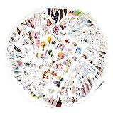 72 hojas pegatina de scrapbook pegatina de Washi pegatina de decoración pegatina de planificador pegatina de diario para adultos para álbum fabricación de tarjetas arte y artesanía (Jardín secreto)