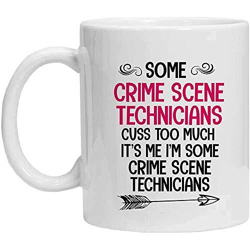 Tatort-Techniker-Tasse, einige Tatort-Techniker fluchen zu viel, Kaffeetasse