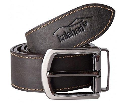 Kalahari Kaama L-80 - Cinturón con Compartimento para Tarjeta (125 x 4 cm), Color marrón
