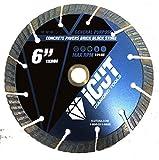 iCut Supreme Turbo Diamond Blade 10mm High Segment All Purpose for Concrete Block Brick Pavers (6 Inch)