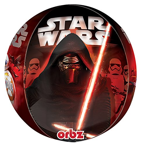 Anagram 3266201 - Folieballon Orbz, Disney Star Wars Episode VII, Kylo Ren, 38 x 40 cm