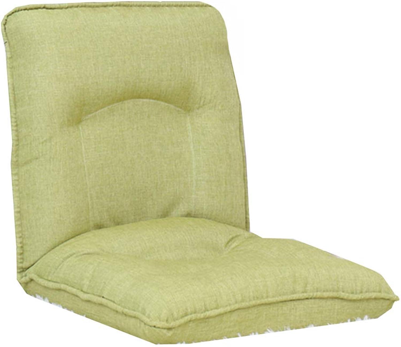 Sitzscke Faltender fauler Sofa-6-Position entspannen Sich Boden-Spielstuhl, justierbare Boden-Kissen-Couch-Betten für Uhr Fernsehapparat, Mittag Rest, Nap (Farbe   Light Grün)