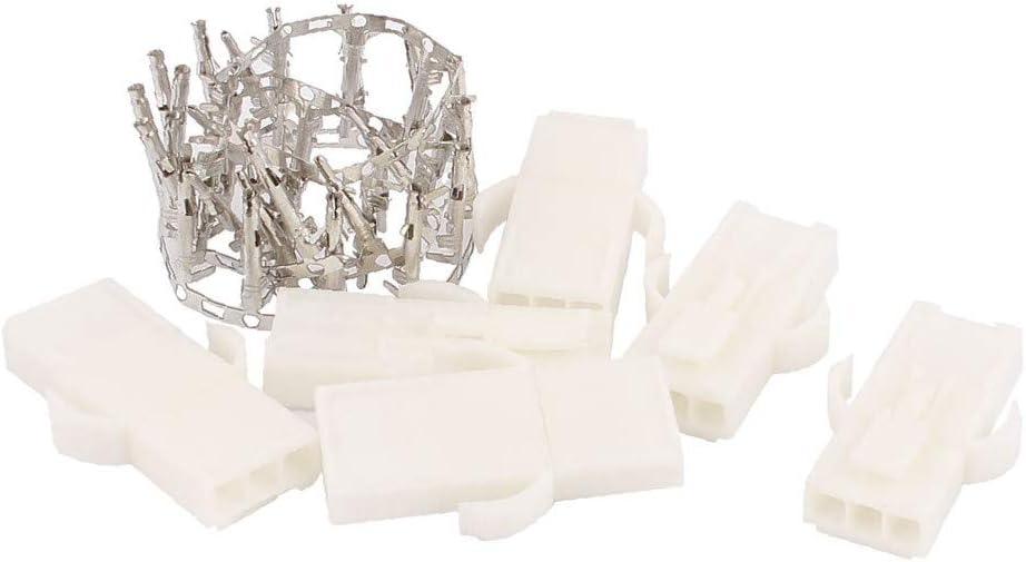 X-DREE 6 Pcs 4.5mm Max 68% OFF Pitch White 3P Female Plastic Housing Un Male Max 53% OFF