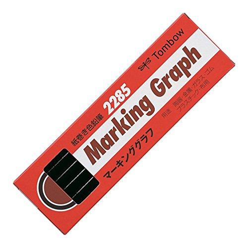 トンボ鉛筆 色鉛筆 紙巻き マーキンググラフ 黒 1ダース 2285-33