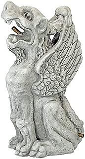 Design Toscano Gothic Gargoyle Piped Spitter Statue