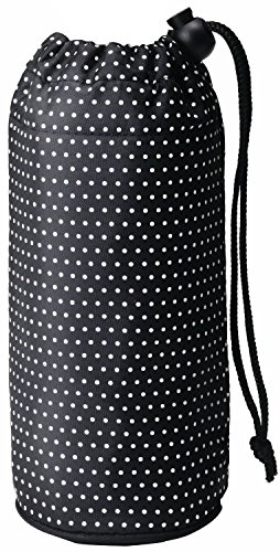 トルネ ペットボトル カバー ホルダー ケース 保冷 保温 500ml用 水玉 ブラック P-3248