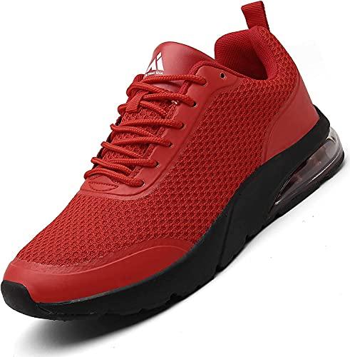 Air Scarpe Donna Uomo Running Basket Sportive Sneakers Leggere Trail Walking Scarpa Rosso 42 EU