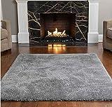 Gorilla Grip Original Ultra Soft Area Rug, 5x7 FT, Many Colors, Luxury Shag Carpets, Fluffy Indoor Washable Rugs for Kids Bedrooms, Plush Home Decor for Living Room Floor, Nursery, Bedroom, Dark Gray
