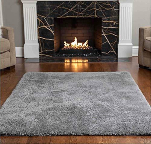 Gorilla Grip Original Faux-Chinchilla Area Rug, 5x7 FT, Many Colors, Soft Cozy Pile Washable Kids Carpet, Rugs for...