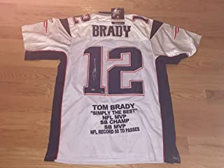 Tom Brady Autographed Signed White Authentic Reebok Patriots Jersey NWT Mounted Memories LIMITED EDITION 11/12