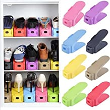 Wishpool Display Rack Shoes Organizer Space-Saving Plastic Storage Rack (Multicolour) (Set Of 3)