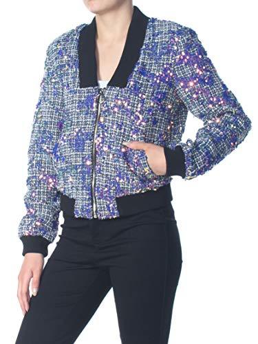 Guess Damen Long Sleeve Krystal Jacket Jacke, Deep Ink Multi, X-Large