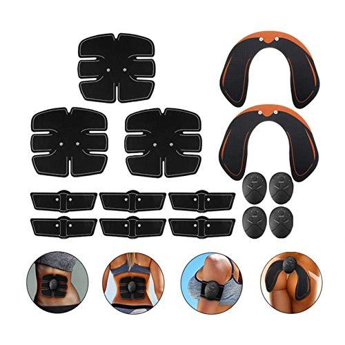 15 PCS Set Elettrostimolatore per Addominali EMS Muscolo Addominale Addestratore Smart Wireless Addominali elettrostimolatore Muscolo Stimolatore Muscolare Set di Massaggi Perdita di Peso Palestra
