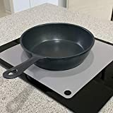Magnetic Induction Cooktop Protector Mat | Silicone Cook top Scratch protector cover for Magnetic Stove | Non Slip Pads to Prevent Pots from Sliding during Cooking (Square (9.8x9.8 inch))