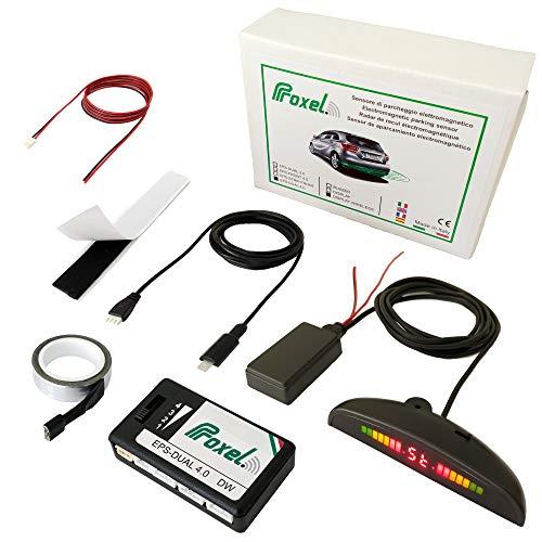 Proxel EPS-DUAL 4.0 DW Sensori di Parcheggio Elettromagnetici Invisibili con Display Wireless, Posteriori Senza Forare Il Paraurti, Kit Universale e Originale