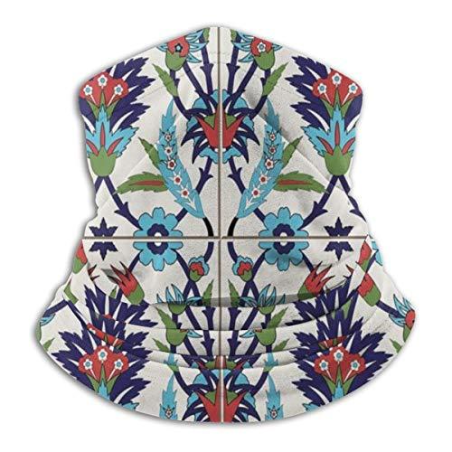 Mozaïek Tegels Met Natuur Geïnspireerd Ornamenten Tulpen En Madeliefjes Met Krullen Microvezel Nek Warmer Vissen Ski Beschermende Nek Sjaal
