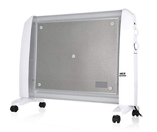 Orbegozo RM 1510 - Radiador de MICA, 1500 W, sistema antivuelco, termostato regulable, no consume oxígeno, protección contra sobrecalentamiento, sin fluido