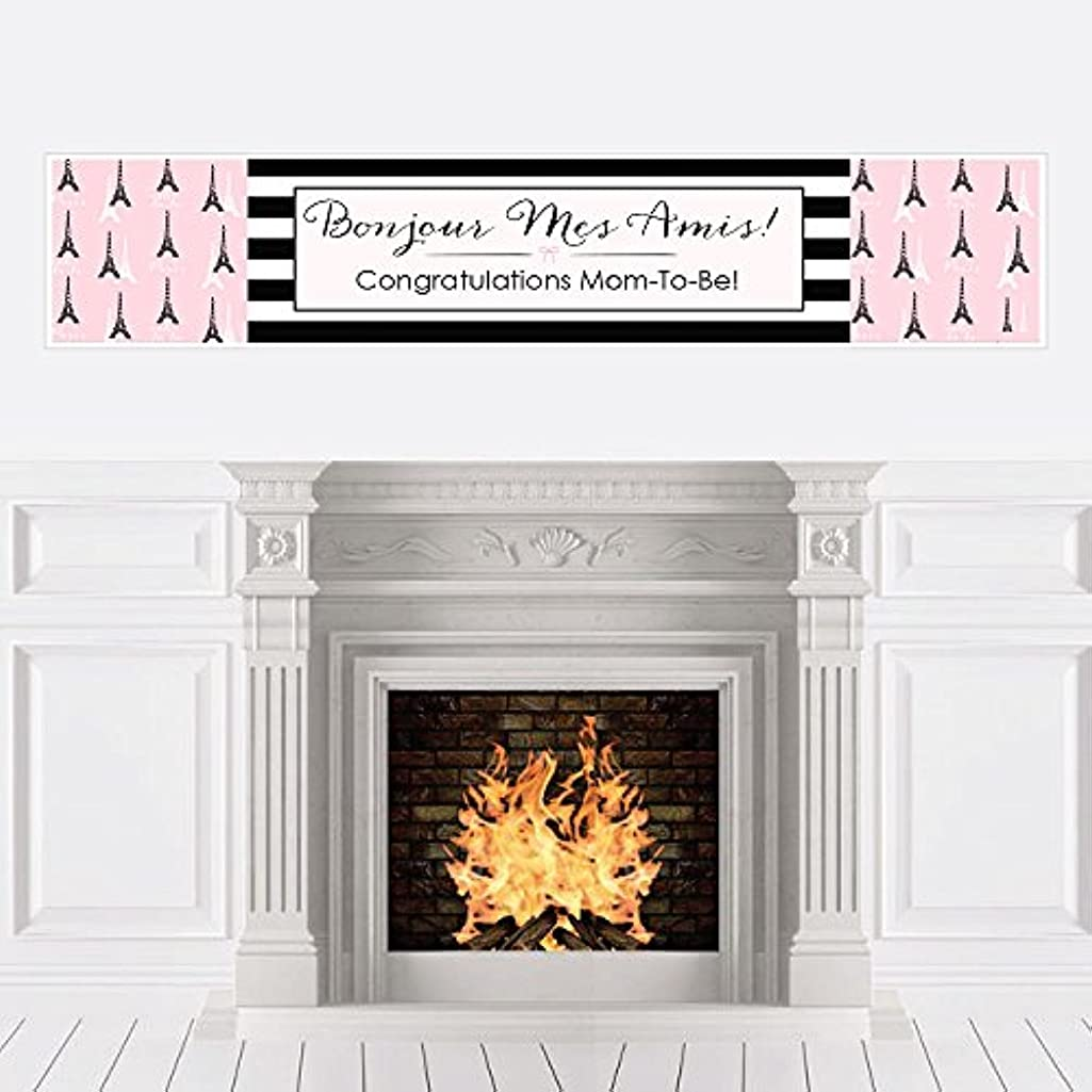 Big Dot of Happiness Paris, Ooh La La - Paris Themed Baby Shower Decorations Party Banner