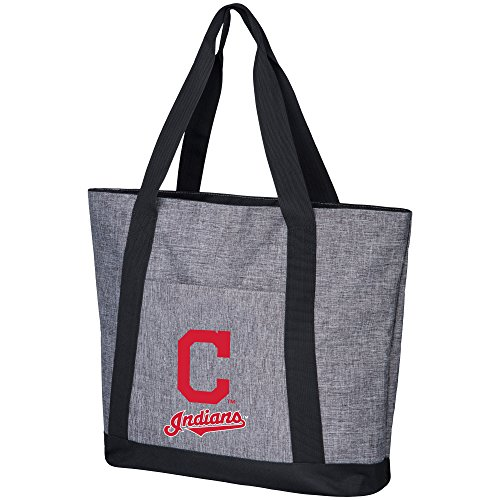 FOCO MLB Cleveland Indians Mens Heather Grey Basic Tote BAGHEATHER Grey Basic Tote Bag, Team Color, One Size