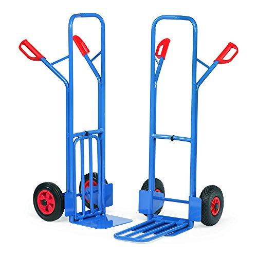 Fetra Transportgeräte mcabpcrb1Sackkarre Räder aus Kautschuk A1, 300kg Belastung, 19kg Gewicht, 580mm Breite x 1300mm Höhe