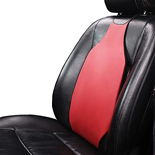 Liyamobu Lumbar Support for Car Seat - Innovative Ergonomic Air Back Cushion Comfortable Back Support for Lumbar/Back Pain Relief - Red