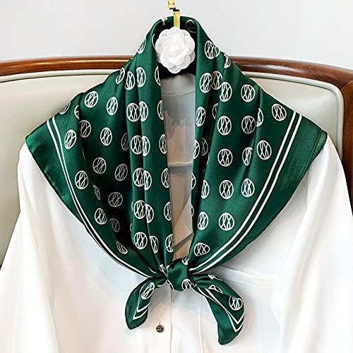 ZAMi Bufanda Cuadrada pequeña para Mujer, Bufandas de Seda para Cuello de Primavera y Verano, Toalla de Hilo Salvaje, Bufanda Fina Decorativa, Tinta