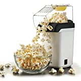 Sentik 1200w Electric Popcorn Maker Machine Fat Free Pop Corn Popper, White by Sentik