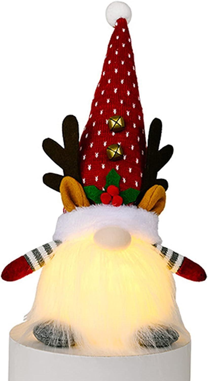 CERISIAANN Chirtmas Oklahoma City Mall Gnome Gonks Max 67% OFF Plush Dolls Decor Glow Handmade