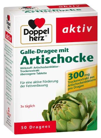 Doppelherz Galle-Dragee mit Artischocke, 4er Pack, 4 x 50 Tabletten