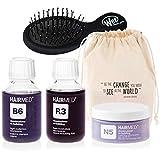Ricostruzione Capelli Con Cheratina R3 Hair Shine Kit con Spazzola Districante Mini Wet Brush - Hairmed - HAIR SHINE KIT Rebuilding with Keratin R3 with Mini Detangler WetBrush