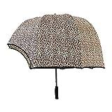 Photo Gallery ytts ombrello a cupola a forma di casco antivento, parasole a cupola per coppia, casco vibrante cappello rovesciato ombrello da golf trasparente 2021