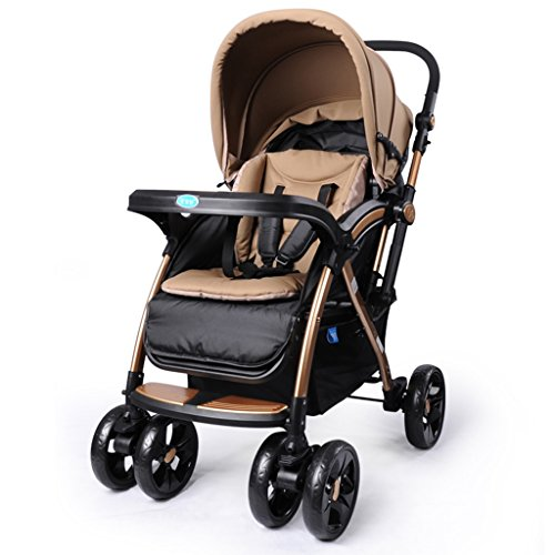 Review Of SI YU baby Trolley Four rounds Suspension Bidirectional Collapsible trolley Widen Newborn ...