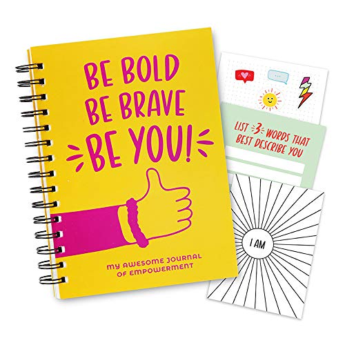 Empowerment Journal for Teenagers - 100 Page Journal for Kids with Affirmation Prompts, Dot Grid Pages, Stickers & Activity Fold-Out Poster. Encourage Growth Mindset ! Gifts for 10, 11, 12 Years Old