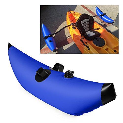 Blusea SUP Paddel Board Stabilisatoren mit Angelhalter für Kajak Kanu,Kajak-PVC-aufblasbares Ausleger-Kajak-Kanu-Fischerboot, das Floss-Stabilisator-System Steht